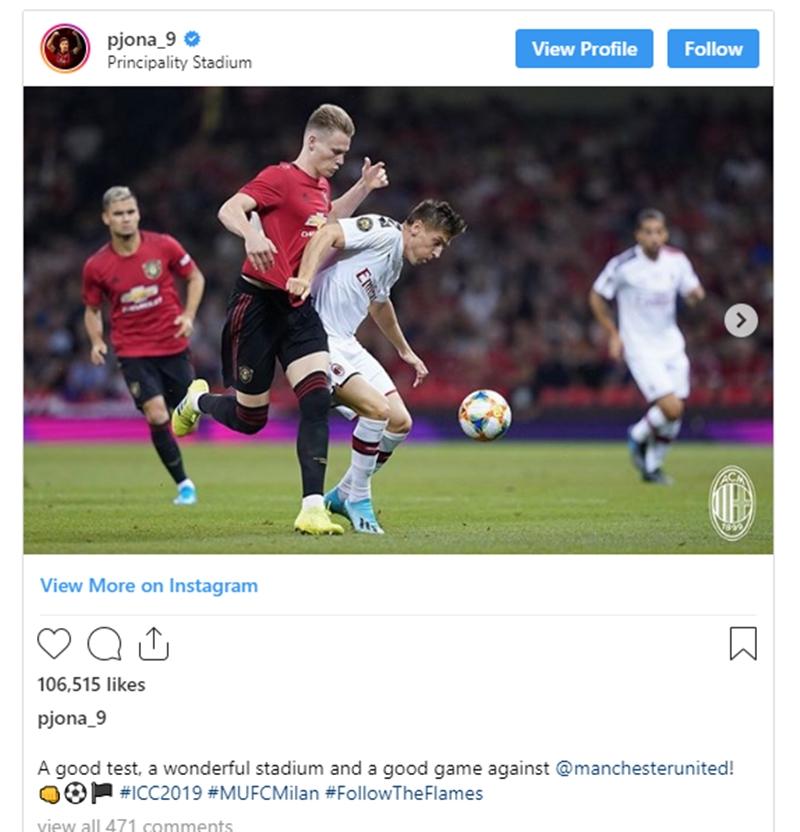 Piatek nói sau trận gặp Man Utd - Bóng Đá