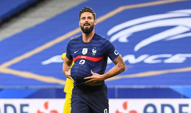Giroud overtakes Platini in France scoring charts on 100th cap as Camavinga marks historic appearance with bicycle kick - Bóng Đá
