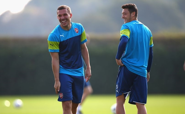 Lukas Podolski sends message to Arsenal boss Mikel Arteta over Mesut Ozil - Bóng Đá