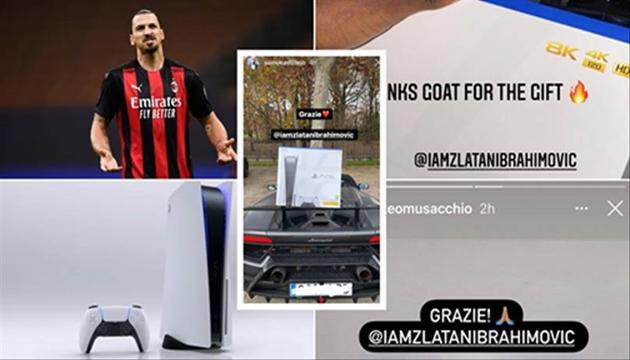 Ibrahimovic tặng Play Station 5 cho đồng đội - Bóng Đá