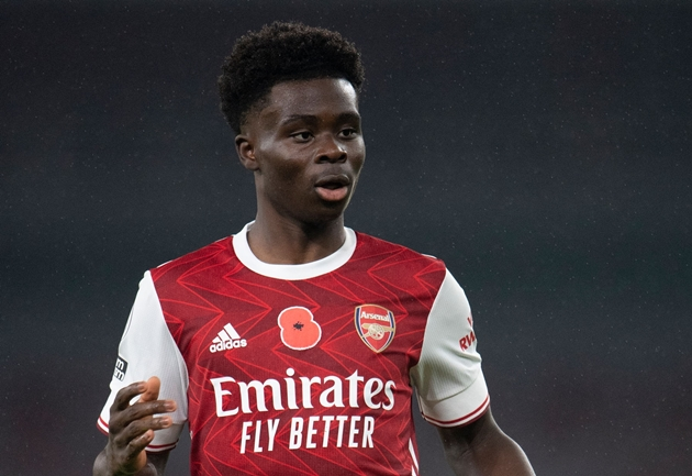 Arsenal youngster Bukayo Saka is not worried about burning out despite racking up the minutes for the Gunners and England. - Bóng Đá