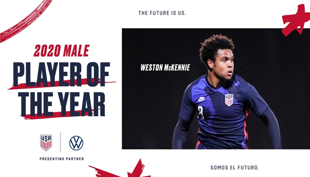 WESTON MCKENNIE VOTED 2020 U.S. SOCCER MALE PLAYER OF THE YEAR - Bóng Đá