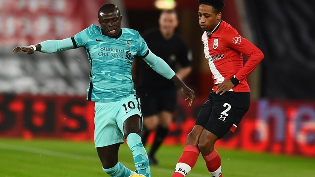 Thống kê trận Southampton - Liverpool - Bóng Đá