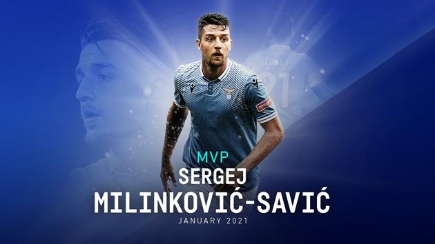 Sergej Milinkovic-Savic xuất sắc nhất tháng 1/2021 tại Serie A - Bóng Đá