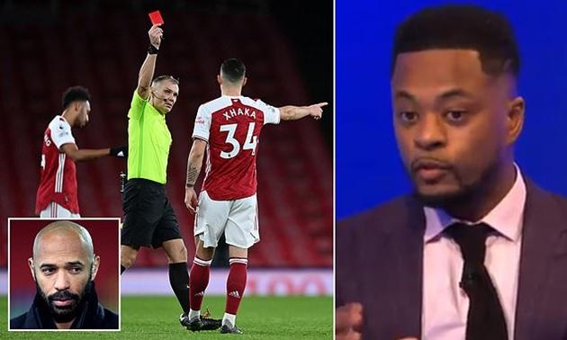 Granit Xhaka slams Patrice Evra for 'provoking online abuse' after Burnley red card - Bóng Đá