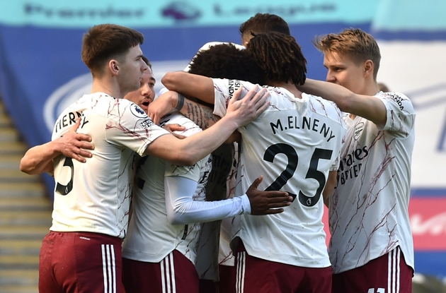 Thống kê Leicester 1-3 Arsenal - Bóng Đá