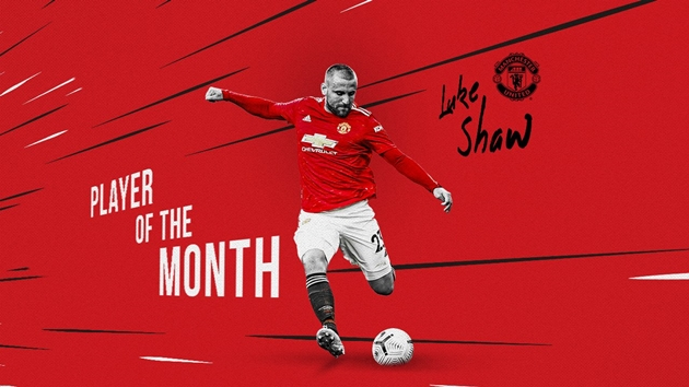 SHAW VOTED PLAYER OF THE MONTH FOR FEBRUARY - Bóng Đá