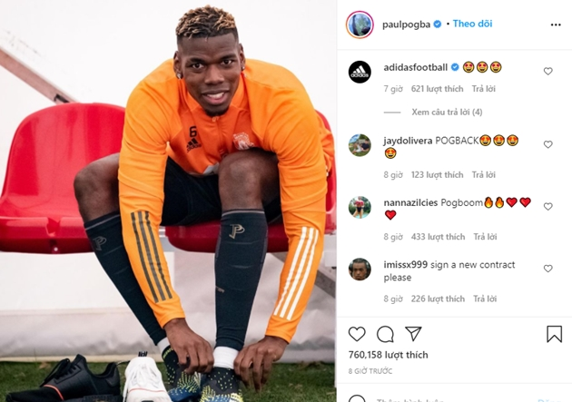 'Let's get back to work' – Paul Pogba hints at imminent injury return for Man United in key clash against AC Milan - Bóng Đá