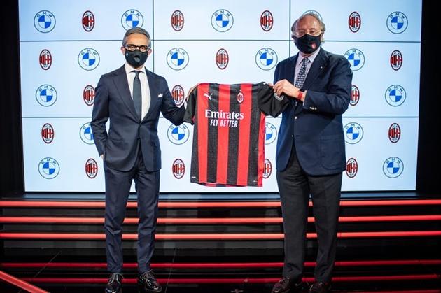 AC Milan được BMW tài trợ - Bóng Đá