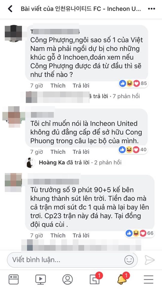Những lời bình luận của CĐV Việt Nam