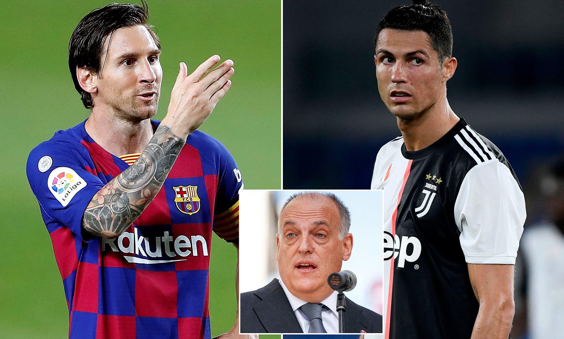 Cristiano Ronaldo Hasn't Improved Serie A Much, Says LaLiga President Javier Tebas - Bóng Đá