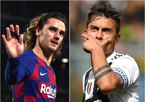 Barca - Juve đổi Griezmann - Dybala - Bóng Đá