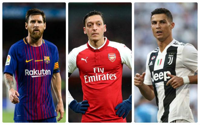 Mesut Ozil gives definitive verdict on Lionel Messi vs Cristiano Ronaldo debate - Bóng Đá