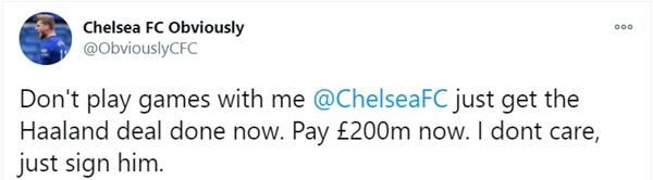Fan Chelsea yêu cầu chiêu mộ Haaland - Bóng Đá