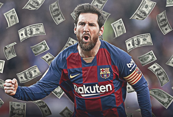 Barcelona will 'have to pay' Lionel Messi £34.4m if he joins Man City or PSG on a free - Bóng Đá