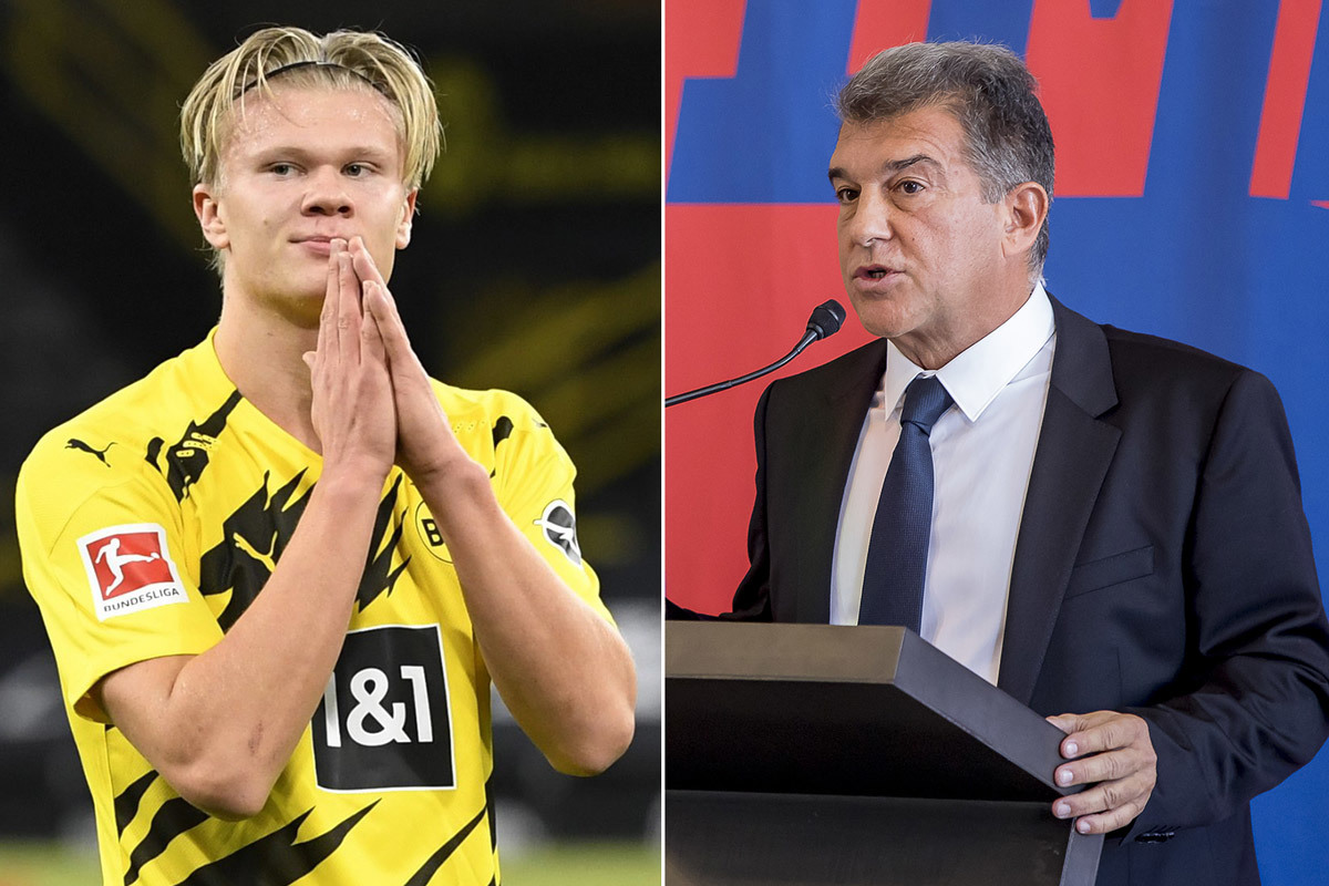 Barcelona ready to sell two players as Joan Laporta pushes for Erling Haaland transfer - Bóng Đá