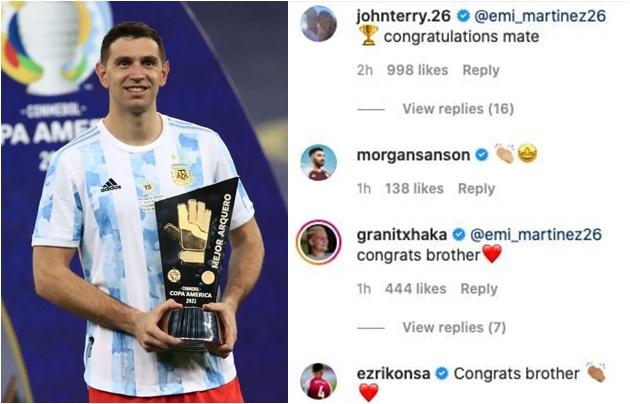 John Terry and Granit Xhaka laud Emi Martinez after Copa America win - Bóng Đá