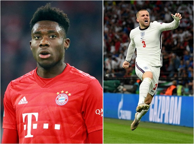 Man Utd star Luke Shaw brilliantly hailed by Bayern's Alphonso Davies - 'He's better!' - Bóng Đá