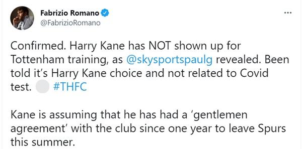 Harry Kane bỏ tập - Bóng Đá
