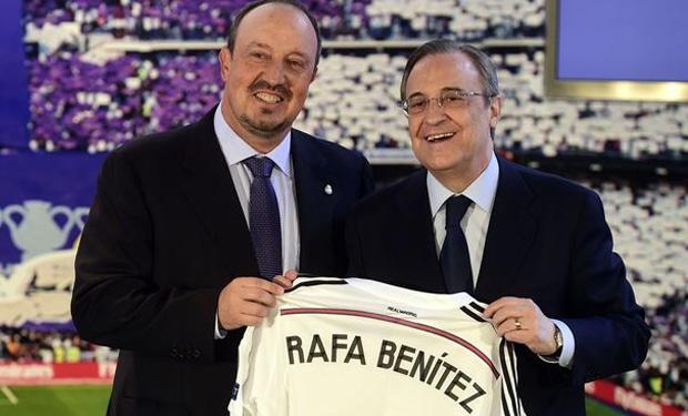 Ngày chính thức được bổ nhiệm, Benitez đã rơi những giọt nước mắt hạnh phúc. Ảnh: Internet.
