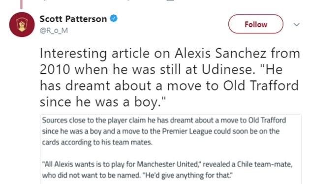 NÓNG: Sanchez chỉ muốn khoác áo Man Utd - Bóng Đá