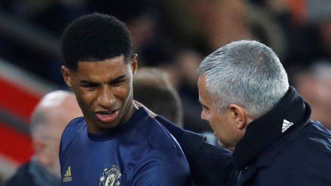 Rashford nói gì với Mourinho trước khi bị thay ra? - Bóng Đá