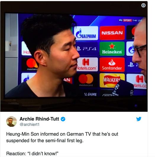 Son Heung-min tan vỡ khi hay tin bị cấm trận Ajax - Bóng Đá
