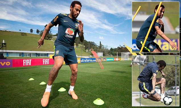 Ảnh tập Neymar Brazil - Bóng Đá