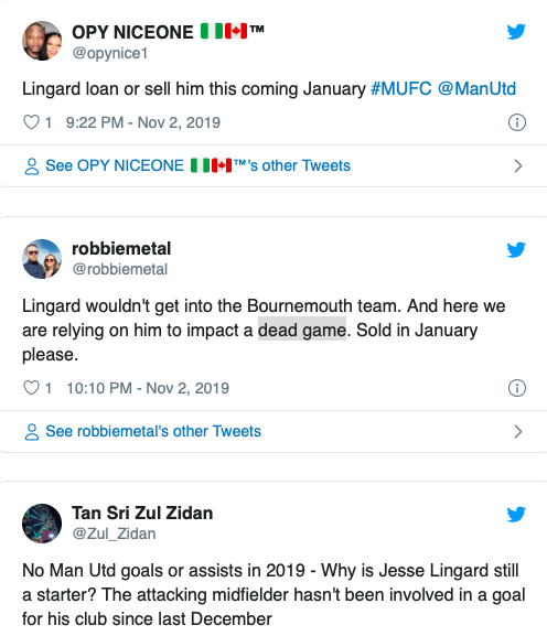 'Loan or sell him in Janaury': Some Man Utdd fans want Lingard  gone after 1-0 defeat - Bóng Đá