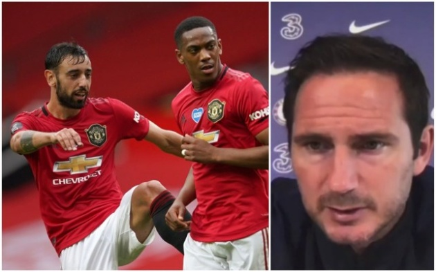 Frank Lampard wary of Manchester United's threat to Chelsea's Premier League position - Bóng Đá