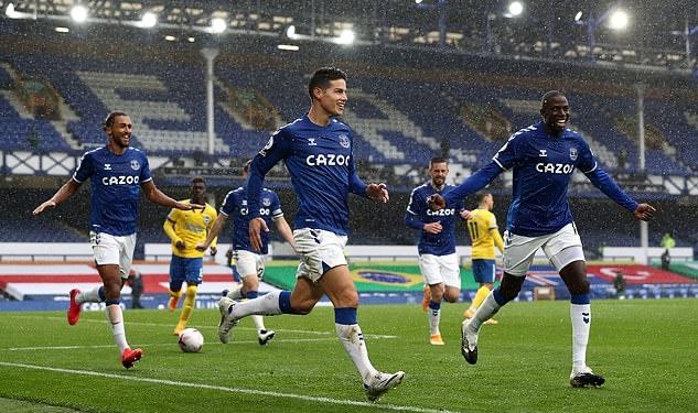 James Rodriguez thăng hoa tột đỉnh, Everton vùi dập đối thủ 4 bàn - Bóng Đá