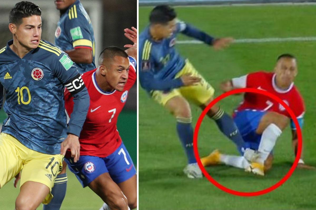 SỐC! James Rodriguez thoát thẻ đỏ sau cú đạp triệt hạ Alexis Sanchez - Bóng Đá