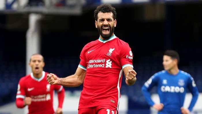Salah scores 100th goal for Liverpool with strike against Everton in Merseyside derby - Bóng Đá