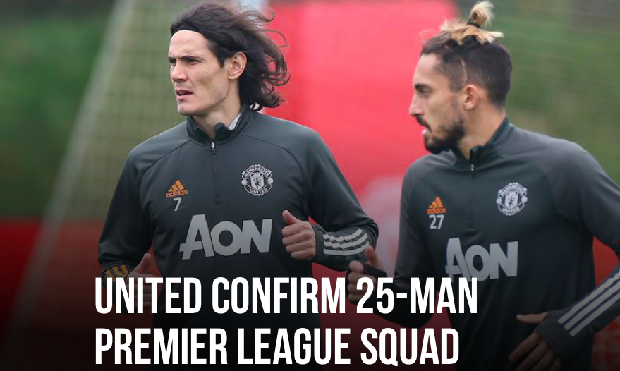 Man Utd Premier League squad confirm - Bóng Đá