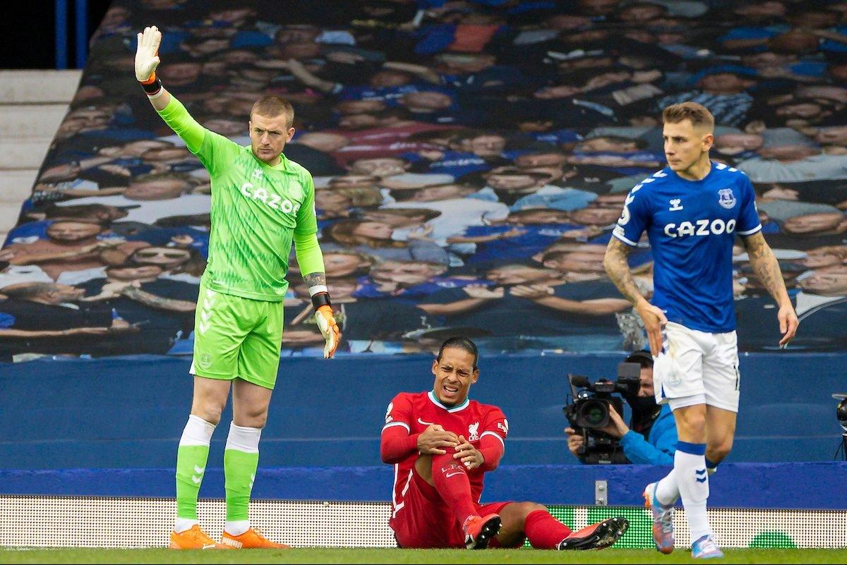 Everton boss Carlo Ancelotti claims Jordan Pickford criticism over Virgil van Dijk challenge is 'not fair' - Bóng Đá