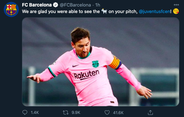 Barcelona take swipe at Cristiano Ronaldo with brutal Lionel Messi jibe - Bóng Đá