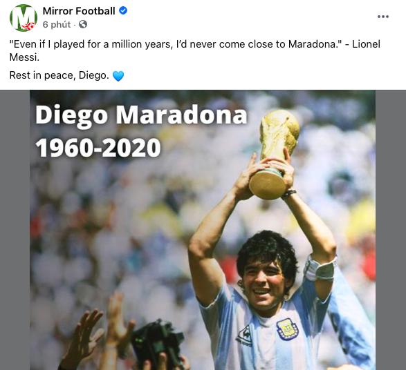 Cả thế giới khóc thương Diego Maradona! - Bóng Đá