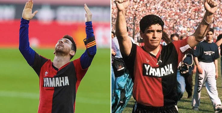 Lionel Messi got yellow card after tribute to Maradona - Bóng Đá