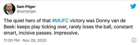 Manchester United fans loved Donny van de Beek's performance vs Southampton - Bóng Đá