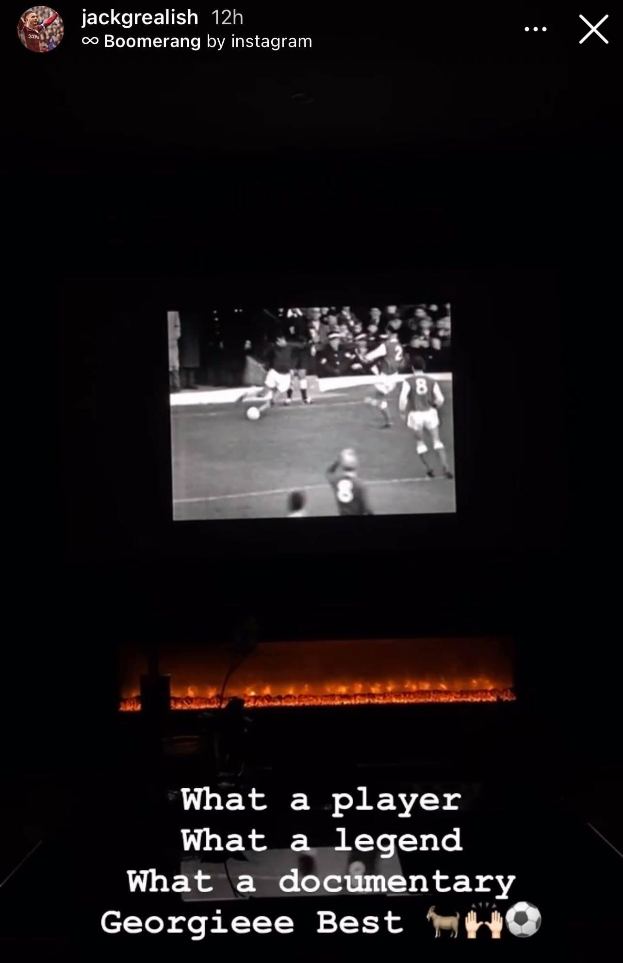 Jack Grealish watching Man Utd legends document - Bóng Đá