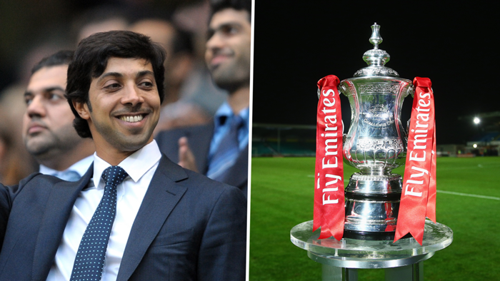 Manchester City owner Sheikh Mansour purchases old FA Cup trophy at auction - Bóng Đá