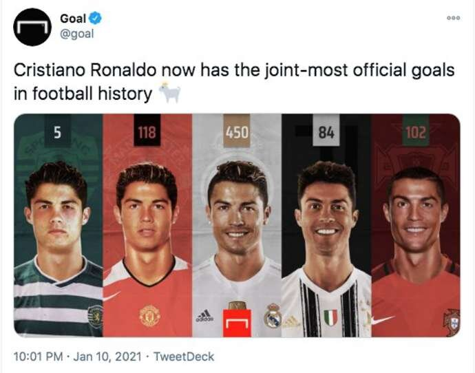 Cristiano Ronaldo, Lionel Messi, Pele: Who has the most official goals in football history? - Bóng Đá