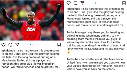 Odion Ighalo: Manchester United loanee bids emotional farewell - Bóng Đá