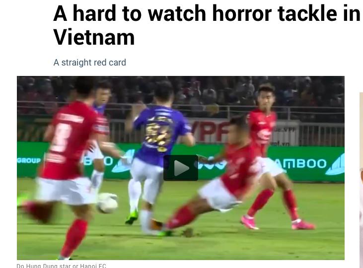 Loạt tờ báo hàng đầu nước ngoài sốc với chấn thương của Hùng Dũng - Bóng Đá
