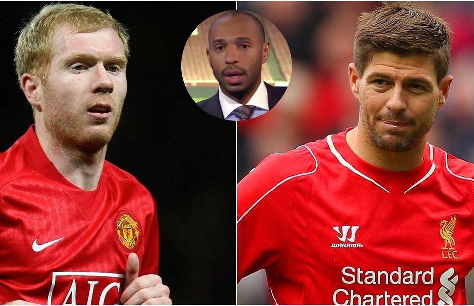 Steven Gerrard vs Paul Scholes: Thierry Henry gave his opinion - Bóng Đá