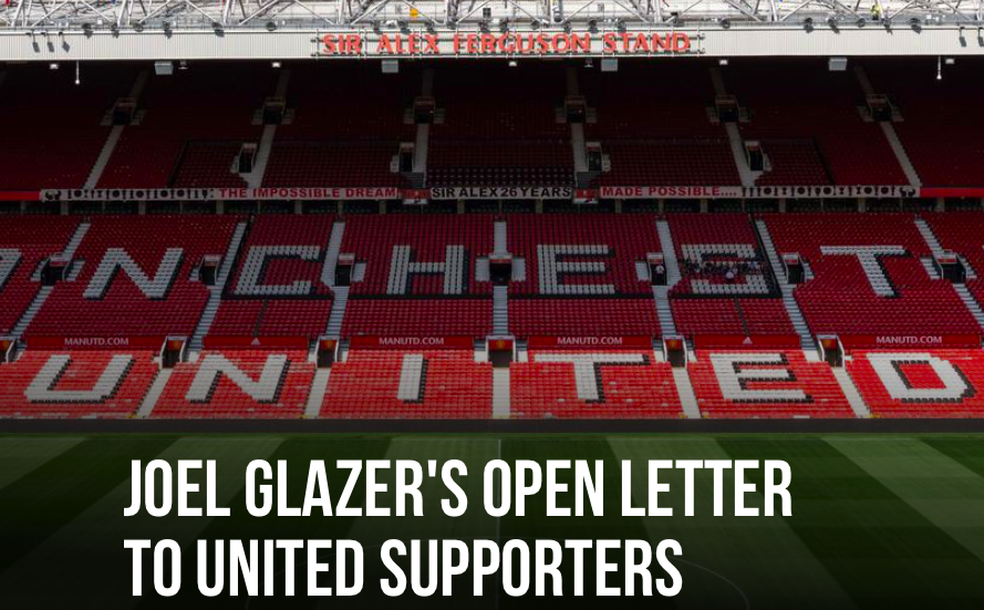 JOEL GLAZER'S OPEN LETTER TO UNITED SUPPORTERS - Bóng Đá
