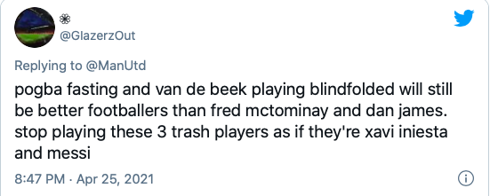 'Stop playing these 3 trash players' – These Man United fans call for changes after lax first-half against rivals Leeds - Bóng Đá