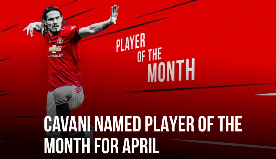 Cavani best player in April - Bóng Đá