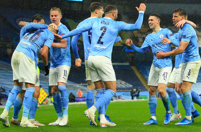 10 thống kê Man City 2-0 PSG:  - Bóng Đá
