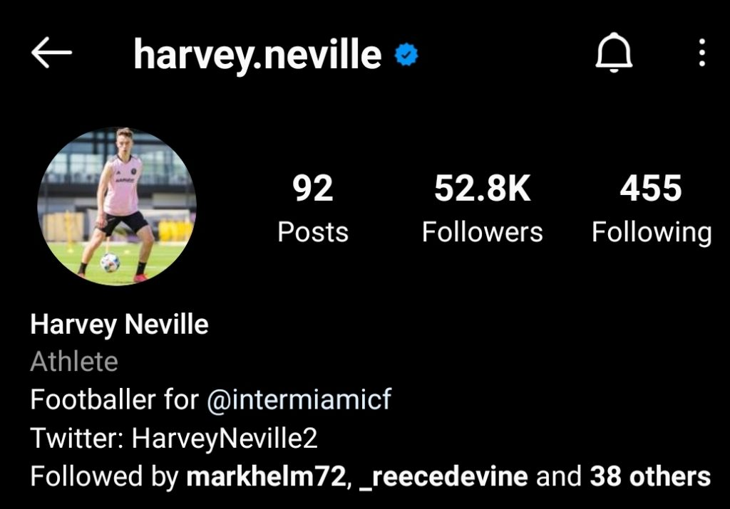 Harvey Neville appears to have left Manchester United to sign with David Beckham's Inter Miami. - Bóng Đá
